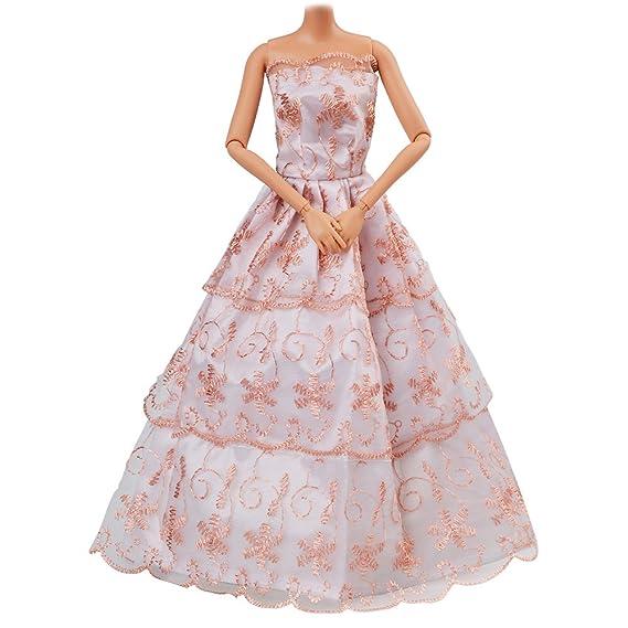 Amazon.es: ASIV 5 Piezas Moda Hechos a Mano Ropa Vestido Crece Outfit para Muñeca de Barbie (Estilo Ramdon): Juguetes y juegos