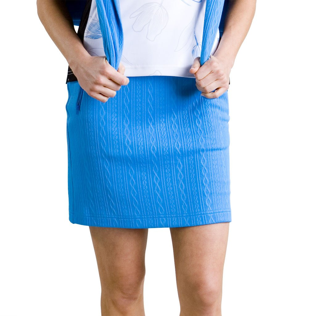 Monterey Club LadiesケーブルテクスチャプルオンニットSkort # 2844 B01BEJUUHS Medium|マリンブルー マリンブルー Medium