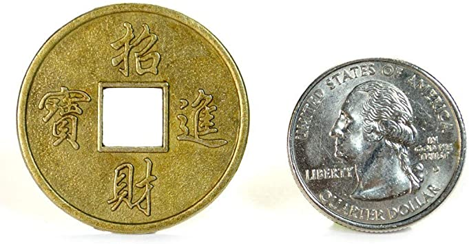 """20 LARGE FENG SHUI COINS 1.25/"""" 3.2cm Metal Chinese Fortune Coin Lucky I Ching"""