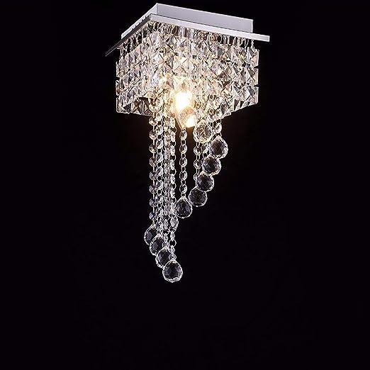 Lámpara de Techo de Cristal Cuadrada de Cristal - Lámparas ...