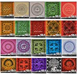 Maniona Crafts Wholesale Lot Of 20 Pcs Mandala Tapestry Wall Hanging, Hippie Gypsy Wall Hanging, Dorm Decor Tapestry, Twin Size Bedding Bedspread, Ethnic Wall Art