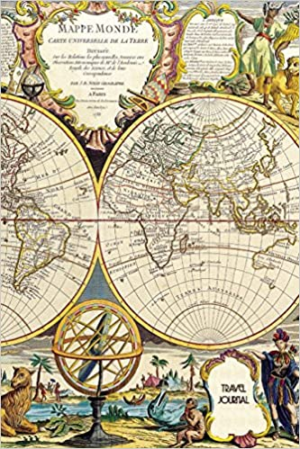 Buy travel journal world map vintage book online at low prices in buy travel journal world map vintage book online at low prices in india travel journal world map vintage reviews ratings amazon gumiabroncs Images
