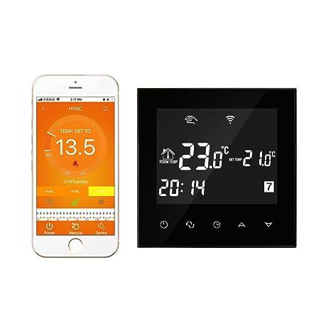 Termostato caldera gas wifi negro pantalla tactil - programador semanal regulador caldera controlador de caldera