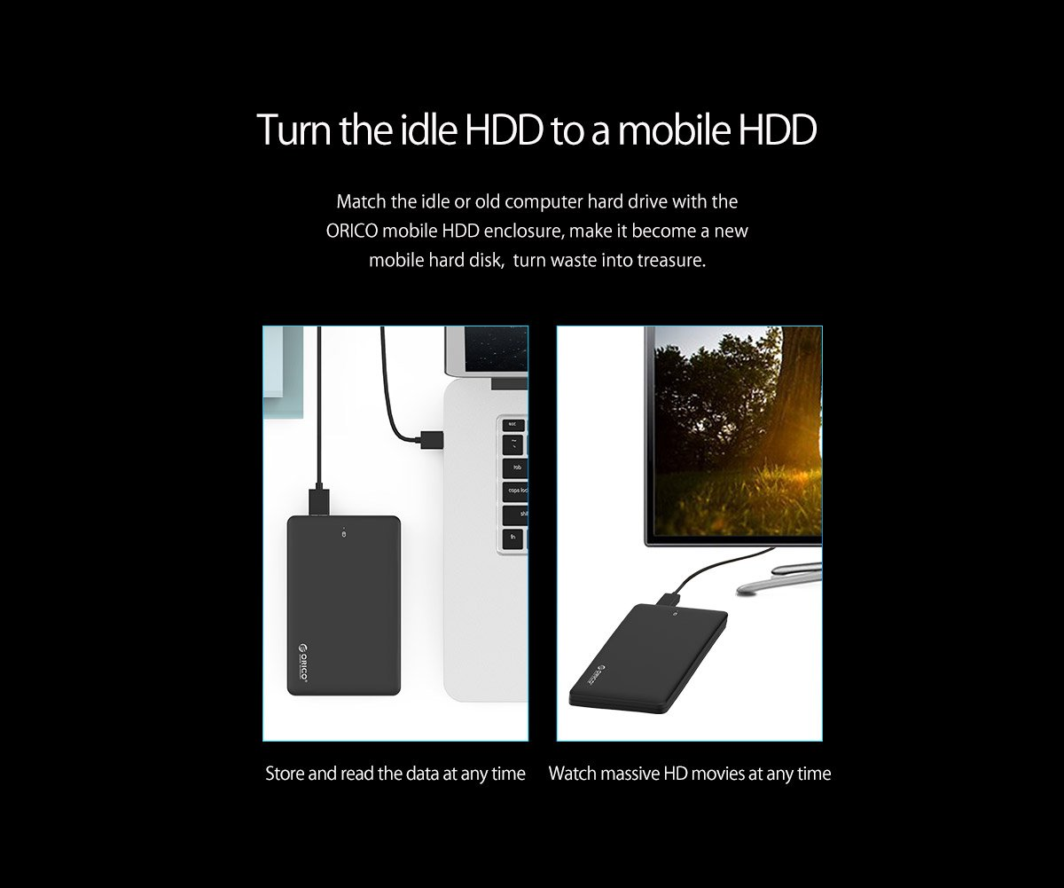 Orico 2599us3 Tool Free Usb 30 Hdd Hard Disk Enclosure Phd 25 25inch And Gadget Protector Electronics