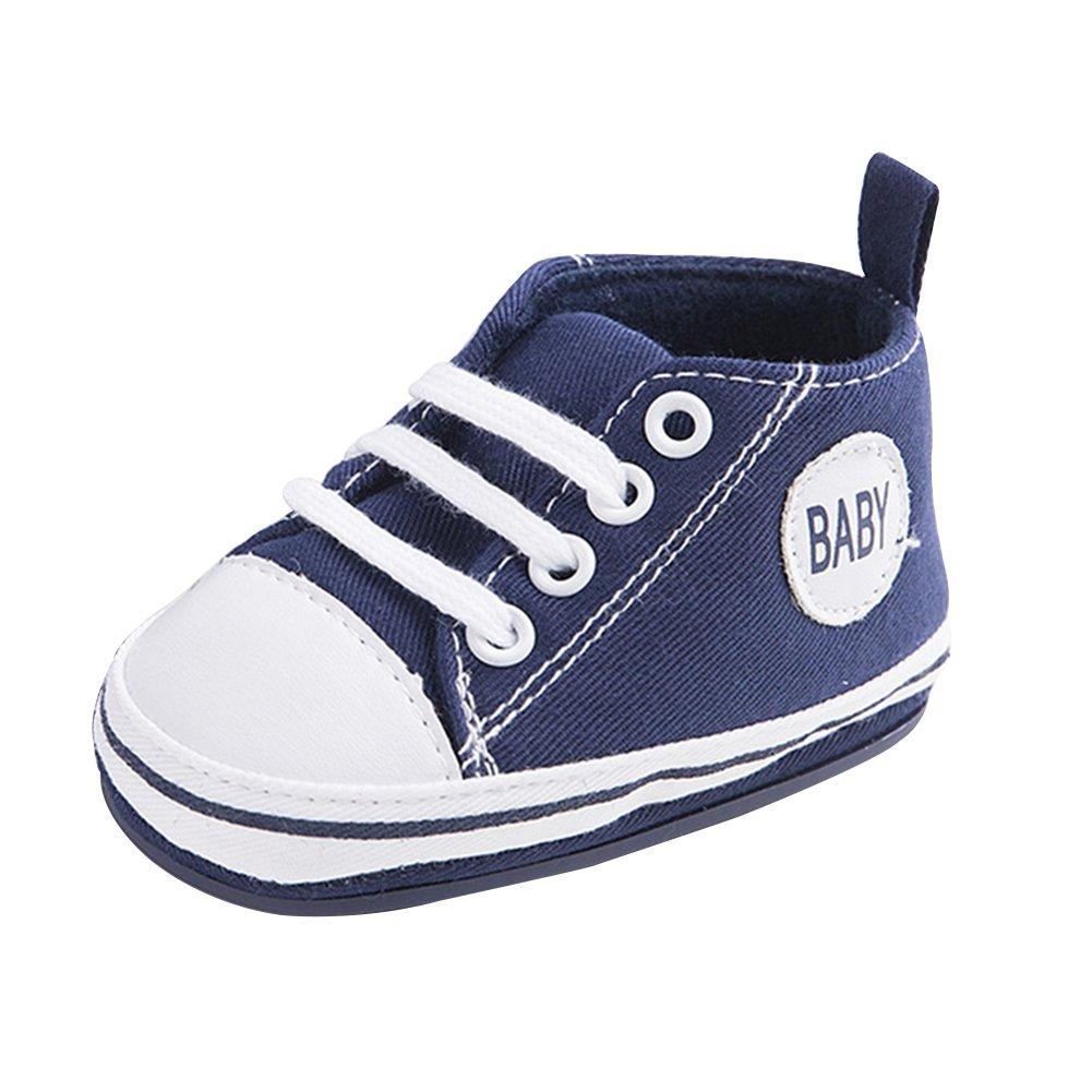 Zapatilla de deporte dulce del bebé de la lona Zapatos suaves suaves antideslizantes del amaestrador 0-18M WYSBAOSHU 2L-QRDK-MQJ5