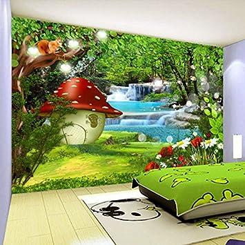 3D fototapete Kindergarten wandbild spielplatz KTV 3D cartoon wald ...