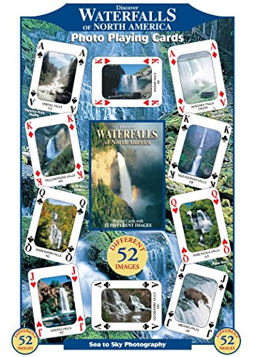 Discover Waterfalls of North America Playing Cards