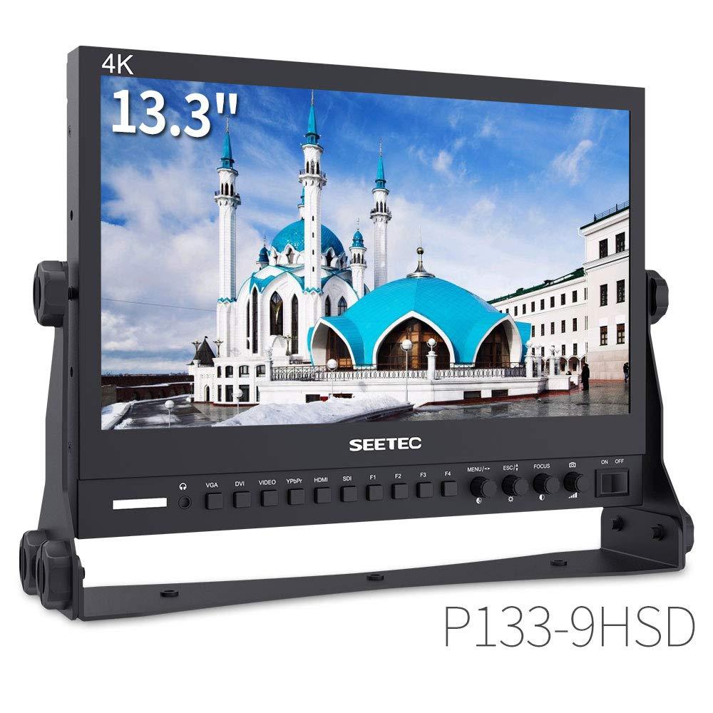 SEETEC P133-9HSD 13.3 Inch Pro SDI Broadcast Monitor Professional LCD Director Studio Production Monitoring IPS Screen Full HD 1920×1080 Aluminum Design with 3G-SDI 4K HDMI AV YPbPr by SEETEC