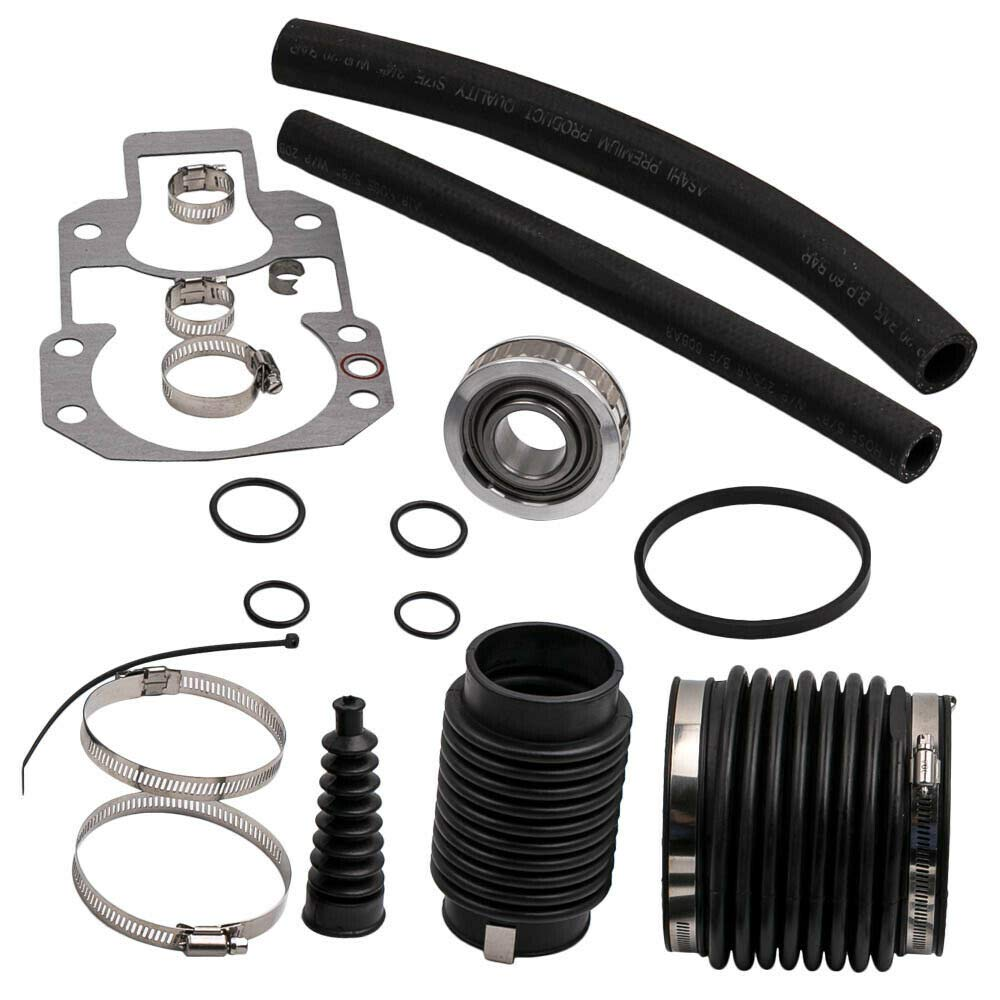 RPS Alpha One Gen 1 and 'pre-Alpha' Rebuilt kit (1972-1990) with Gimbal Bearing, Exhaust, u-Joint, Shift Bellows, Gasket, Water Hose. Replaces Mercury Mercruiser Marine 30-803097T1