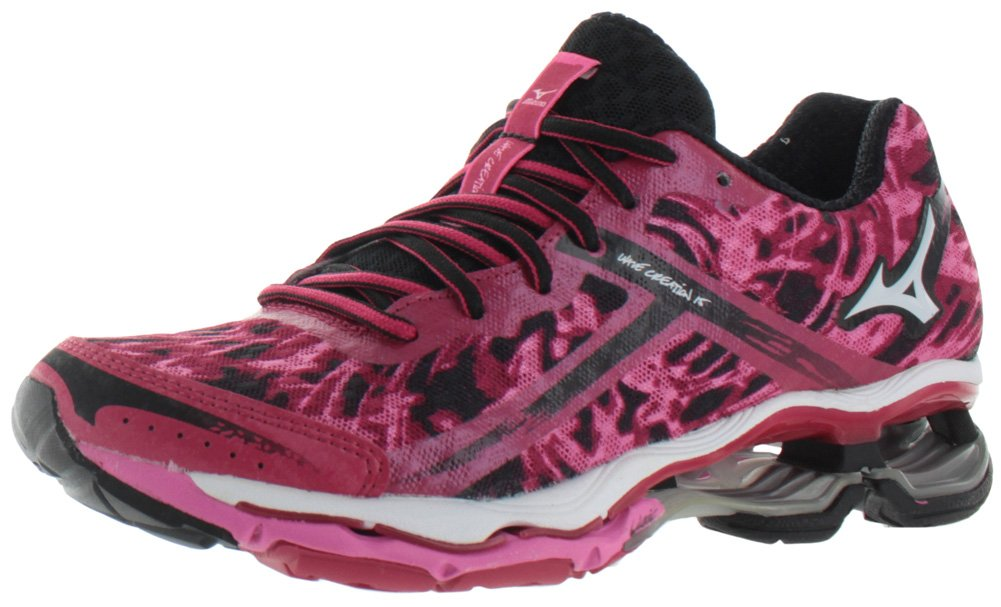 Mizuno Women's Wave Creation 15 Running Shoe B00NMOME0K 7 B(M) US|Pink/Black/Pink