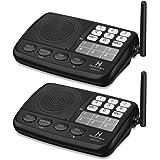 Wireless Intercom System Hosmart 1/2 Mile LONG RANGE 7-Channel Security Wireless Intercom System for Home or Office (2017 New vesion)[2 Stations Black]