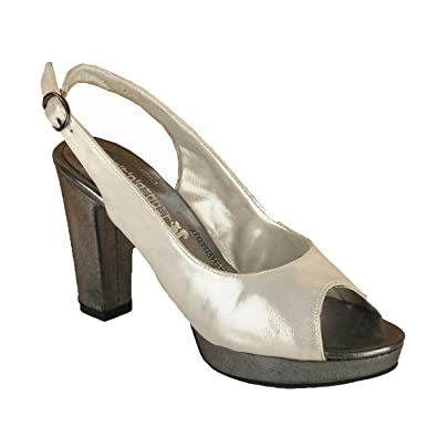 3f8849911b7ba0 Salt N Pepper Silver Leather Women s Fashion Sandals  Buy Online at ...