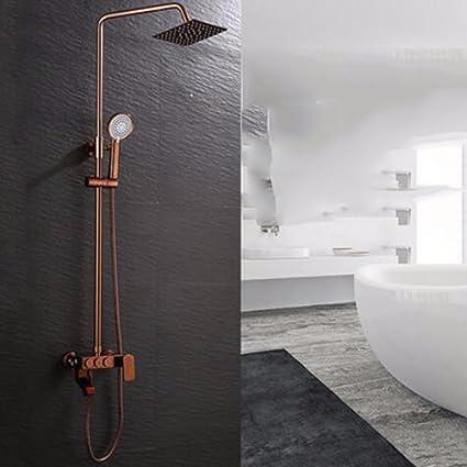 duchas ducha ducha rose oro cuadrados grandes rociadores entrada de - Duchas Grandes