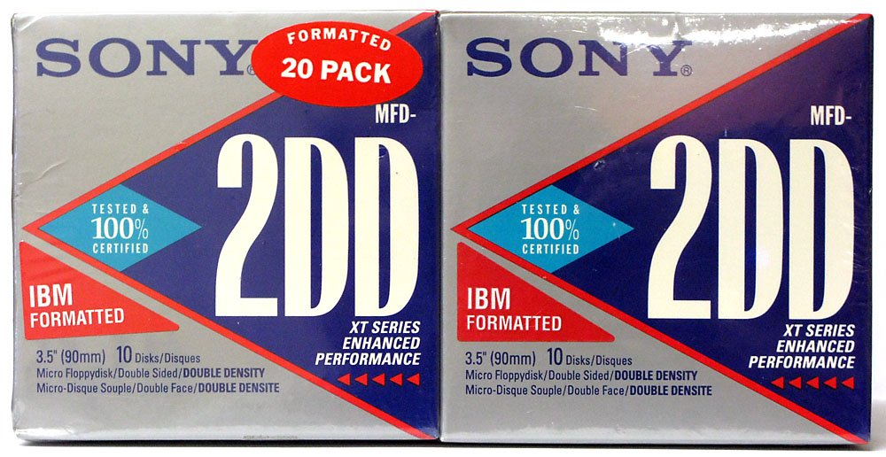 Sony Mfd-2dd 1mb Xt Series 3.5'' Diskette 20 Pack