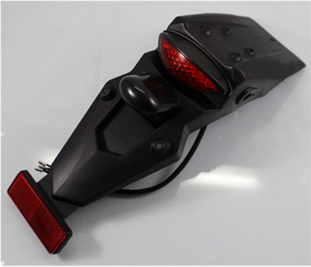 Dlll Universal Motorrad Led Hinten Schutzblech Fender Led Running Bremslicht Rücklicht Lampe W Halterung Für Volusia Marauder Vespa Victory Atv Roller Quads Sport Freizeit