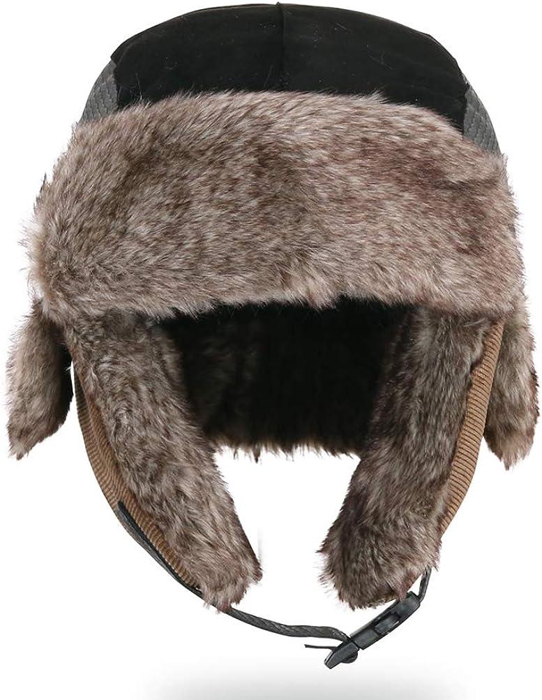 Moon Kitty Little Boys Winter Hat with Large Flaps Kids Nylon Russian//Aviator Winter Earflap Cap