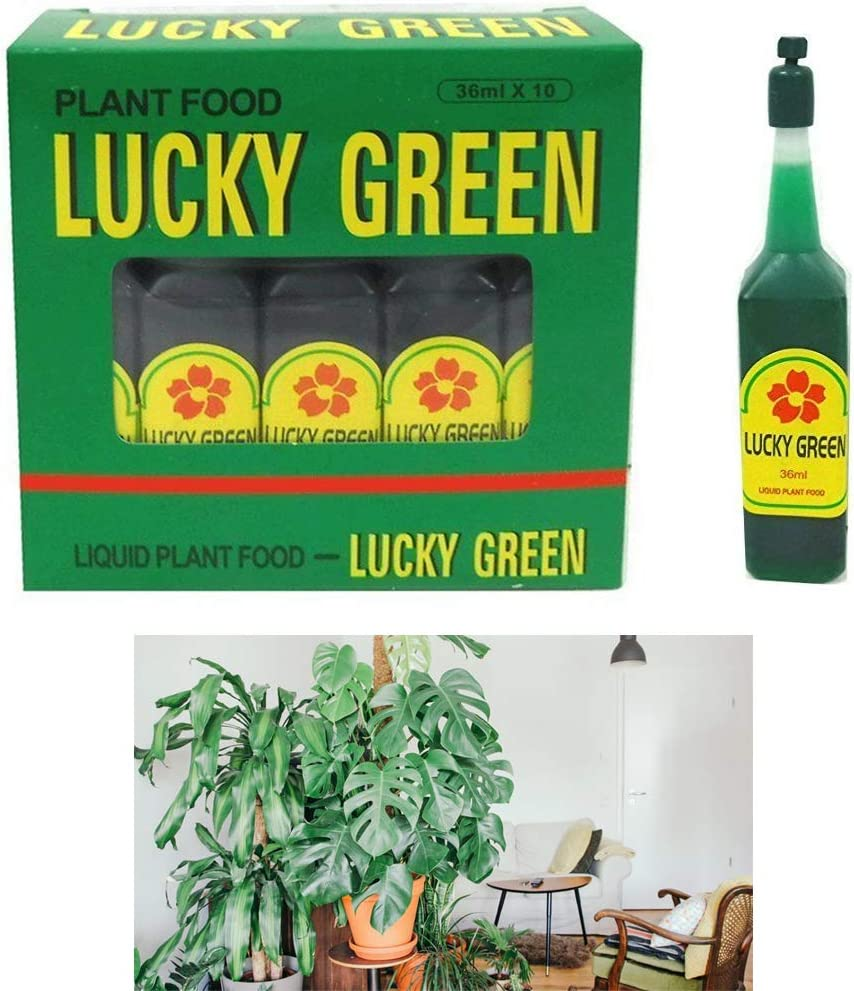 10pk Lucky Green Plant Food Liquid Fertilizer Flowers Feed Grow Water Soluble