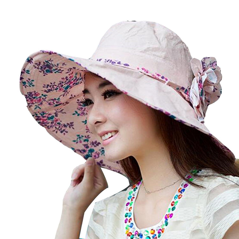Surker Women Fashion Anti-UV Beach Sunscreen Foldable Cool Summer Hat