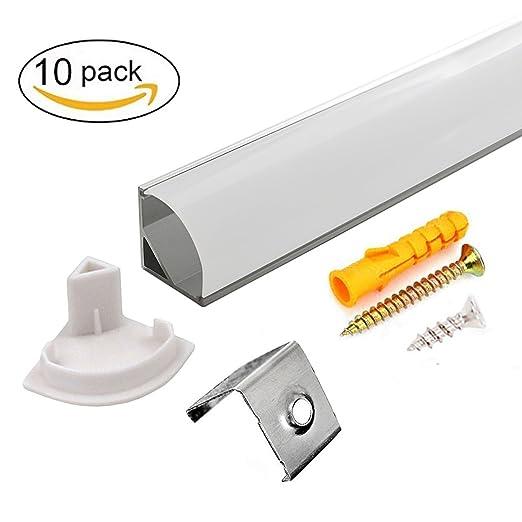 2 opinioni per Profilo Alluminio LED Opale 45°- 10x1MT Profilo LED Anodizzato V-Figura per