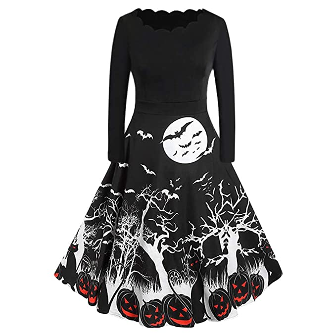 Amazon.com: Gunel Womens Halloween Audrey Dress,Boat Neck ...