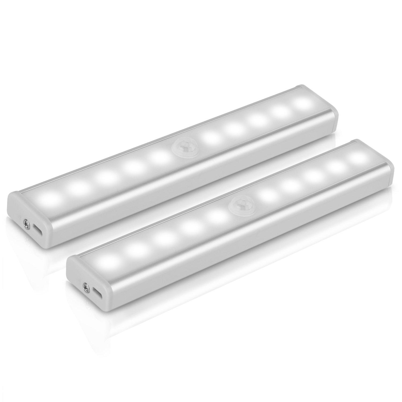 [Pack 2 Unidades] Lámpara LED de pared, YOKKAO Luz de Noche con Sensor de Movimiento y Detector de Luz (Color Blanco Cálido) [2 Unidades] [Clase de eficiencia energética A+++]
