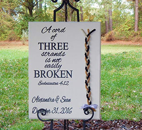 Wedding Board Sign Personalized Names Dates Custom Braids Colors 24