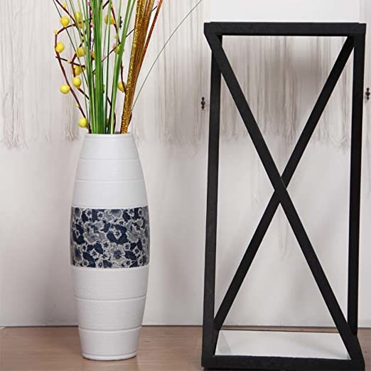 Amazon.com: Modern Living Room Floor Large Vase Ceramic Style Flower European Home Decor Ornaments-A: Home & Kitchen