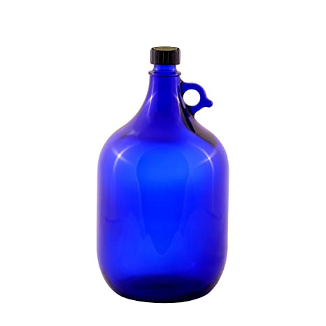 Unbekannt Globo de Cristal Botella 5 litros, Azul, diseño Flor de la Vida,