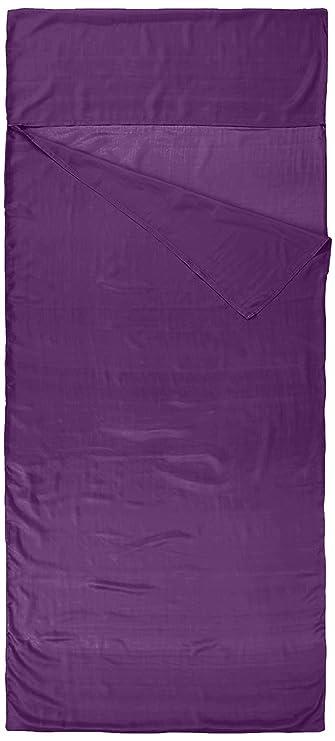 Nod-Pod Saco de dormir de seda 100% de seda natural - Sábanas para sacos de dormir - Púrpura: Amazon.es: Deportes y aire libre