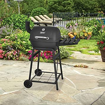 Genial Backyard Grill Mini Barrel Charcoal Grill Outdoor Porcelain Coated Cooking  Grid