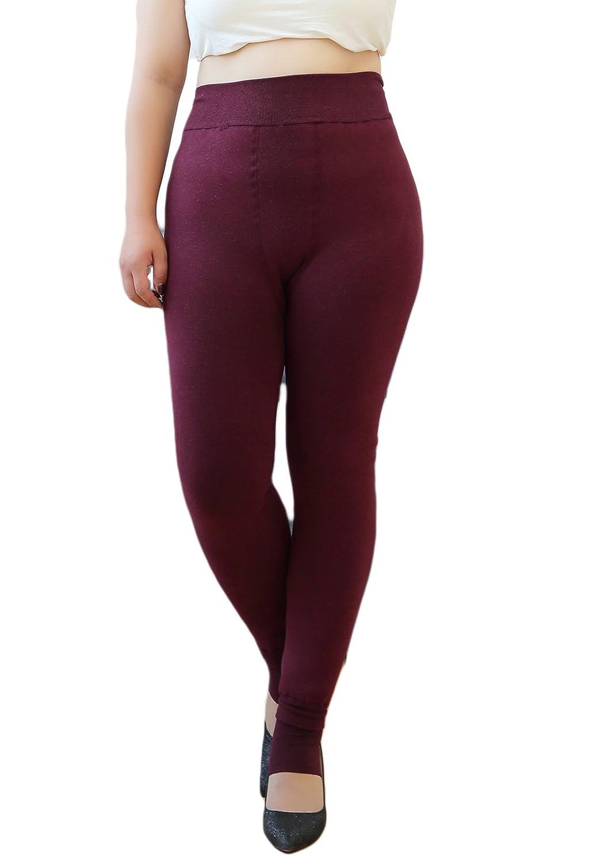 Women's Plus Size Super Warm Thick Fleece Tummy Control High Waist Leggings American Trends ATACAS1980L0000