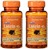Puritans Pride Lutein 40 mg with Zeaxanthin 120 Softgels (2 Pack) For Sale