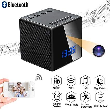 Camara Espia Oculta Mini Spy CAM WiFi TANGMI Altavoz Bluetooth Despertador TANGMI 1080P HD WiFi Cámara