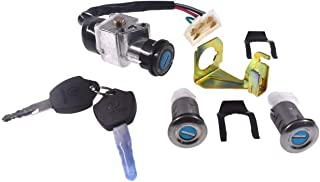 JRL Moped Scooter Ignition Key Switch Lock Cushion 5 Wires fit Gy6 50cc 150cc Roketa Jonway Moped Scooter