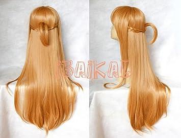ibaikal Sword Art Online Asuna Yuuki Cosplay peluca