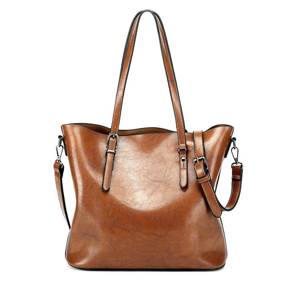 Women Vintage Leather Totes Supple Hobo Bags Soft Shoulder Handbags Large PU Satchels