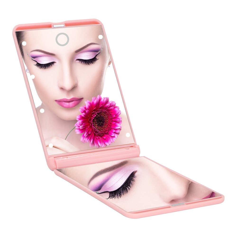 Ultra-thin Led Lighted Compact Travel Makeup Mirror