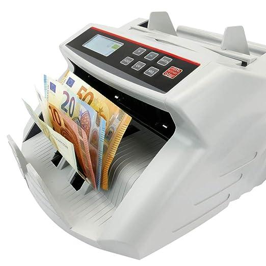 PrimeMatik - Contador de Billetes con Detector de Billetes Falsos UV MG1 MG2: Amazon.es: Electrónica