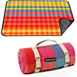 G GOOD GAIN Picnic Blanket Waterproof & Sand Proof,Beach Blanket Portable with Carry Strap, XL Large Foldable Picnic Rug…