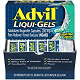 Advil Pain Reliever/Fever Reducer, 200mg Solubilized Ibuprofen (2-Count Liqui-Gel Capsules, Box of 50)