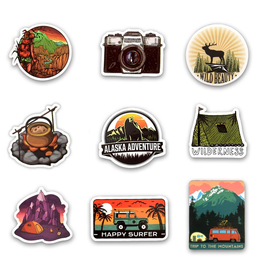 Honch Vinyl Horror Stickers 50Pcs Laptop Stickers Pack Horror Decals for Laptop Ipad Car Luggages Water Bottle Helmet