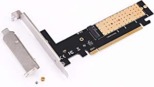 M.2 to PCIe Adapter, NVME SSD to PCI-e 3.0 X16 Host Controller Expansion Card with Low Profile Bracket, Support M Key Solid State Drive Type 2280 2260 2242 2230 Converter to Desktop PCI Express