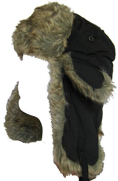 78395d4187a Amazon.com  Klondike Sterling Nylon Trapper Hat with Faux Fur Ear ...