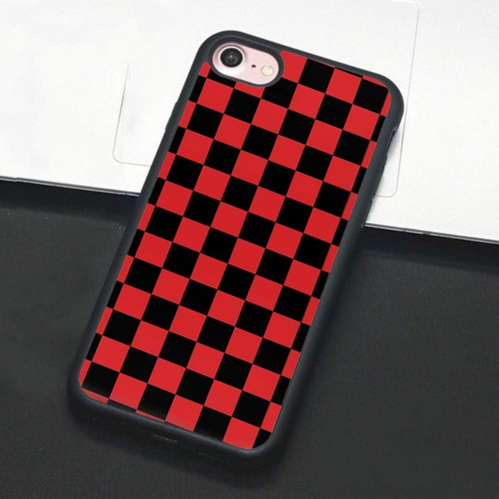 iPhone 11 Pro Max, 1 Checkerboard Phone Case for iPhone 11 Pro Max XS Max XR X 8 Plus 7 Plus 8 7 6 6s 5s 5 se Hard Cover Grid Lattice Plaid Tartan Damier House Checkerboard Chessboard Checker Flag