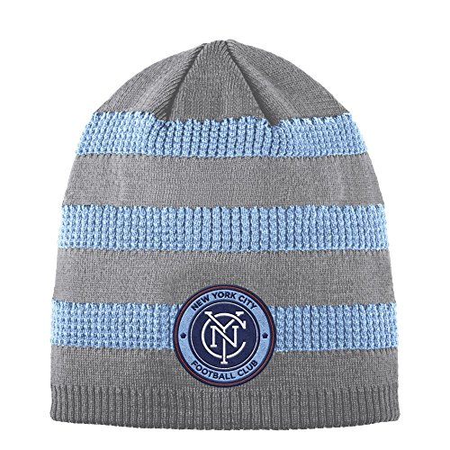 finest selection 87130 3d23c inexpensive new york city fc adidas mls 2017 authentic cuffed knit hat with  pom b6089 6b66f  best price adidas new york city fc beanie authentic  textured ...