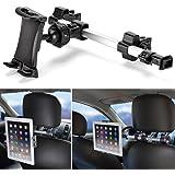 iKross Support Appuie-tête de Voiture Universel Pour Tablette de 7 à 10.2 pouces avec 360 degrés de Rotation, Extension et Allongement entre les deux sièges, Cinéma Auto