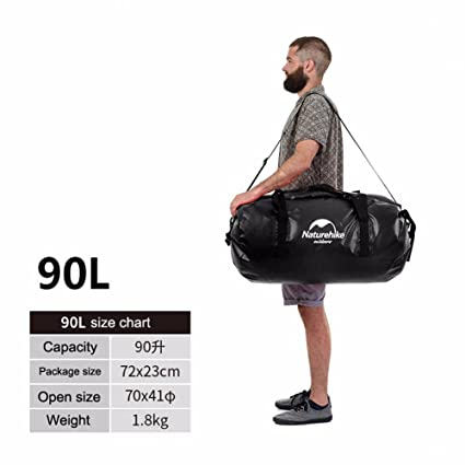 a54b537d26 Naturehike 40 L Duffel Bag Large PVC Waterproof Travel Backpack Swimming  Bags for Men and Women