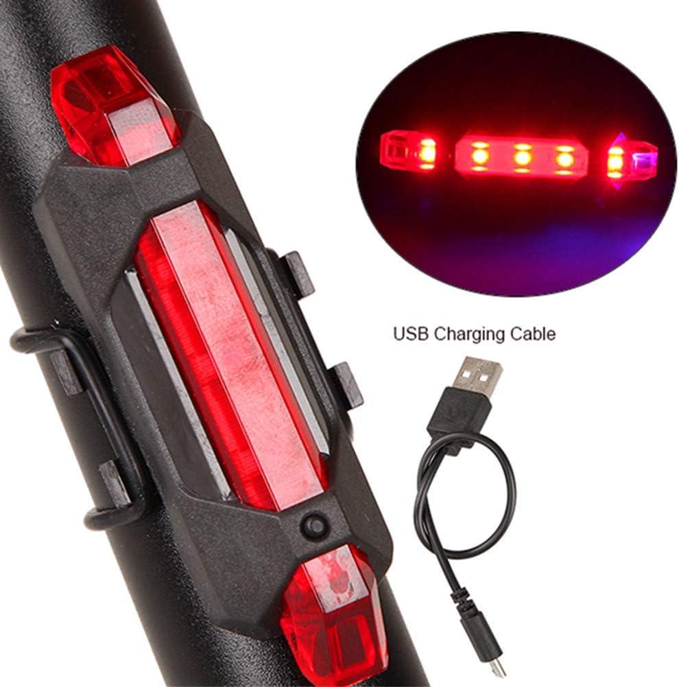 Luz Bici USB Luz Bicicleta Luz para ciclos Led Luz de Bicicleta Luz Led para Bicicleta Ciclo de Luces Led Luz Trasera de Bicicleta USB Luz Led Ciclo