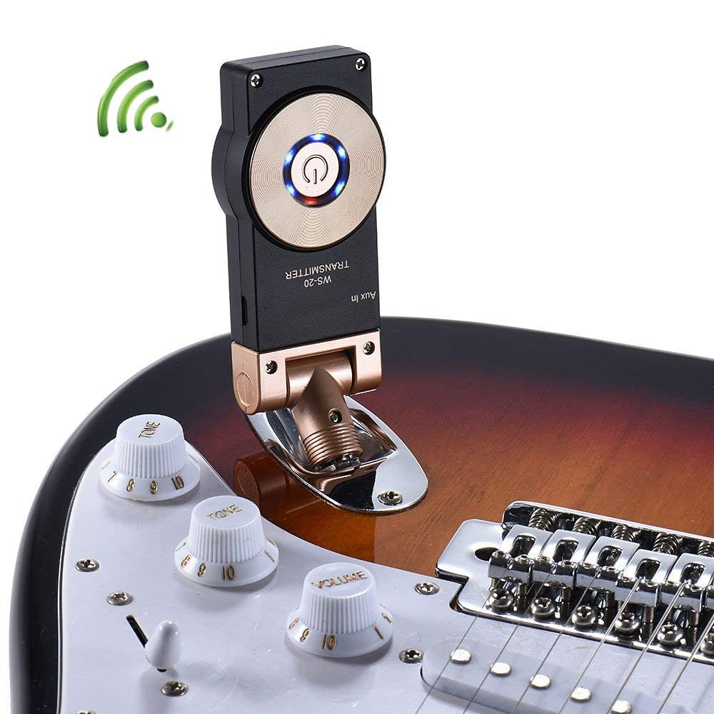 Getaria 24ghz Wireless Guitar System Rechargeable Modify Acoustic Into The Electric On Fm Transmitter Digital Receiver For Bass Violin Musical Instruments