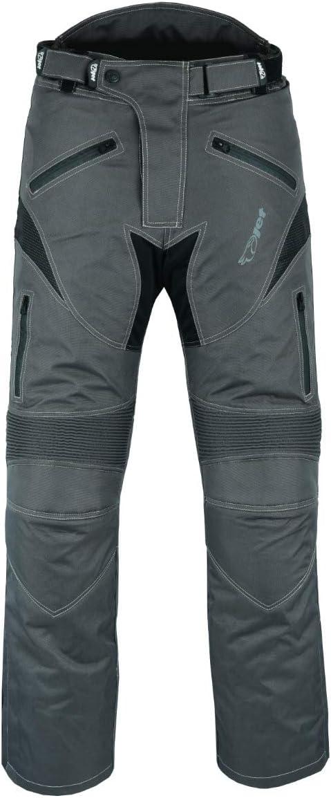Jet Pantalon Moto pour Homme imperm/éable avec Armure Dynamo Gris, UK W38 L30 // EU 54 Short